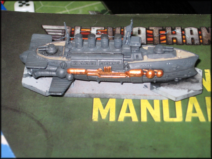 Close-up of a Leviathan mini.