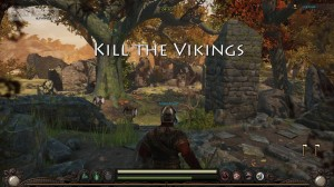 A romantic stroll through the forest, or killing Vikings? Killing Vikings wins out today.