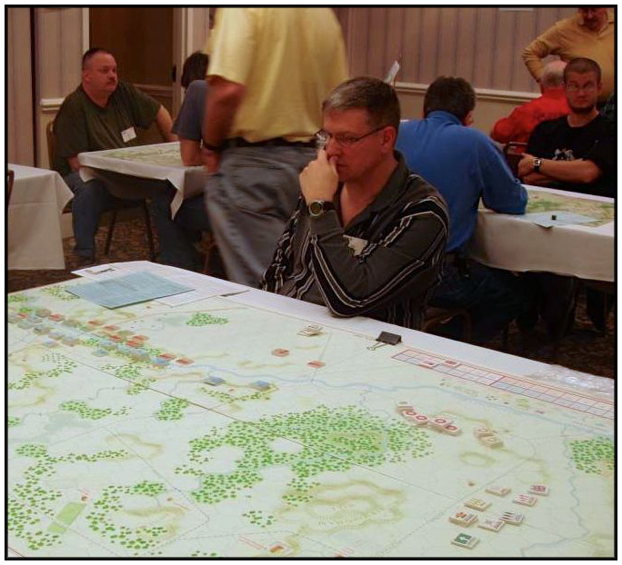 COL Walters deep in thought, commanding the Brits at PrezCon 2007