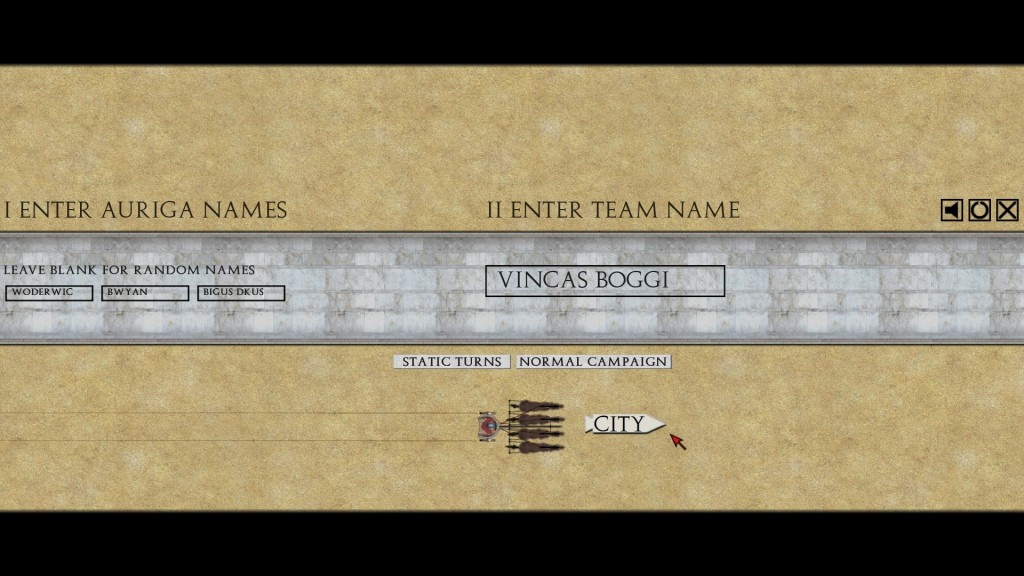 "Team Vincas Boggi recruits drivers from the ""Life of Brian"" as selected by Roman Governor Pontius Pilate!"