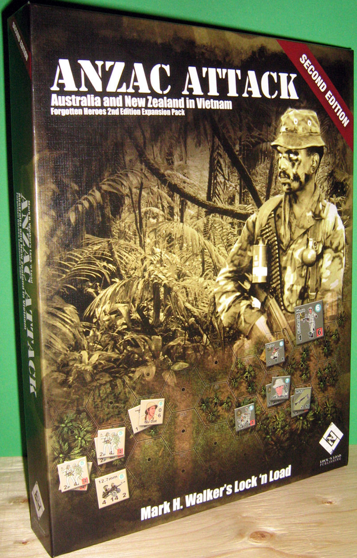 The new second addition of ANZAC Attack comes in the same sized box as Forgotten heroes so now you have twice the room for all Vietnam goodness.