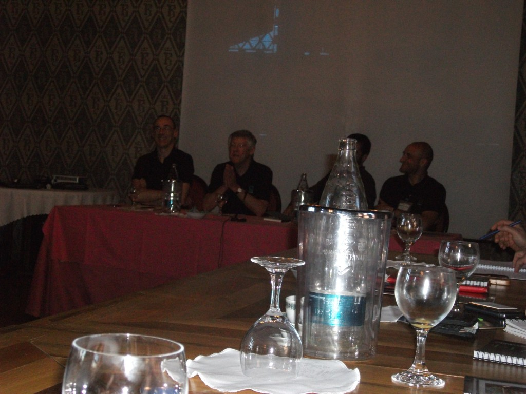 The 'Men in Black' discuss the future with Slitherine while CEO JD McNeil puts a call in to the Almighty! ;-)
