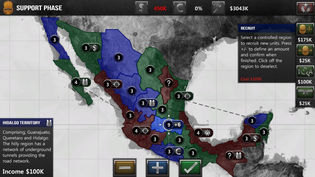 I ready my force for a new offensive. If I succeed getting Jalisco and Colima it will give me an attack roll benefit if I later attack from that province.