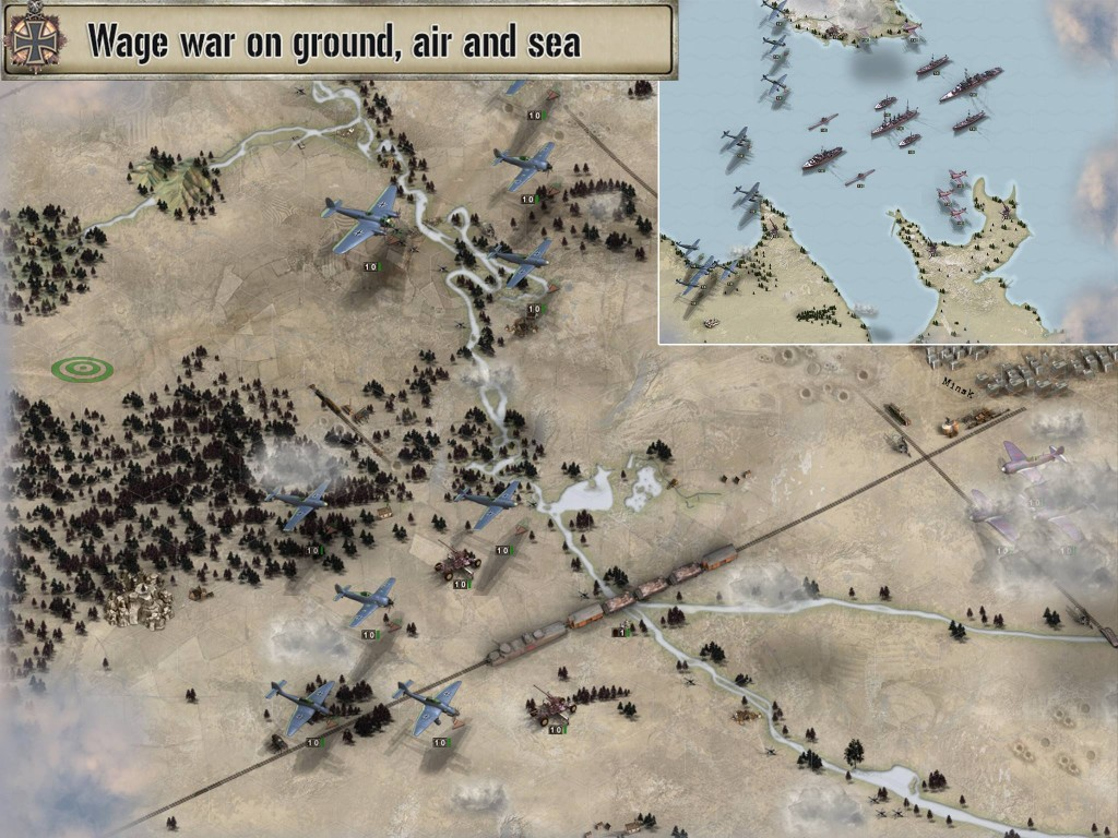Unusually for what is typically a ground war game, there are all air missions too
