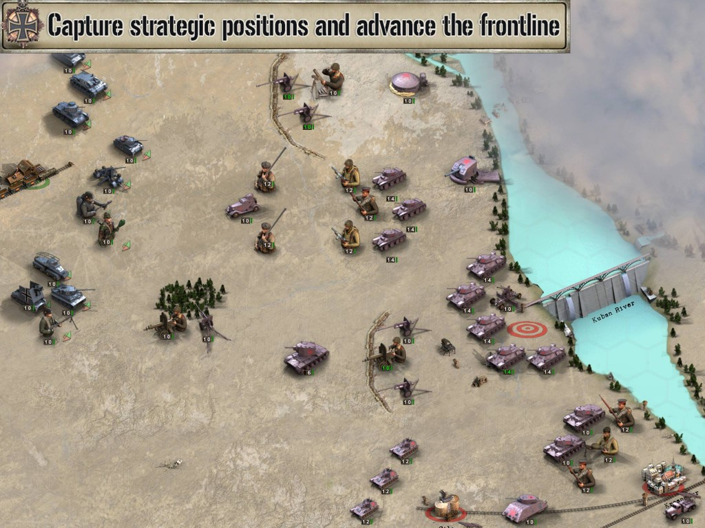Fog of War, and unlockable parts of the map, as a reward for mission success all feature