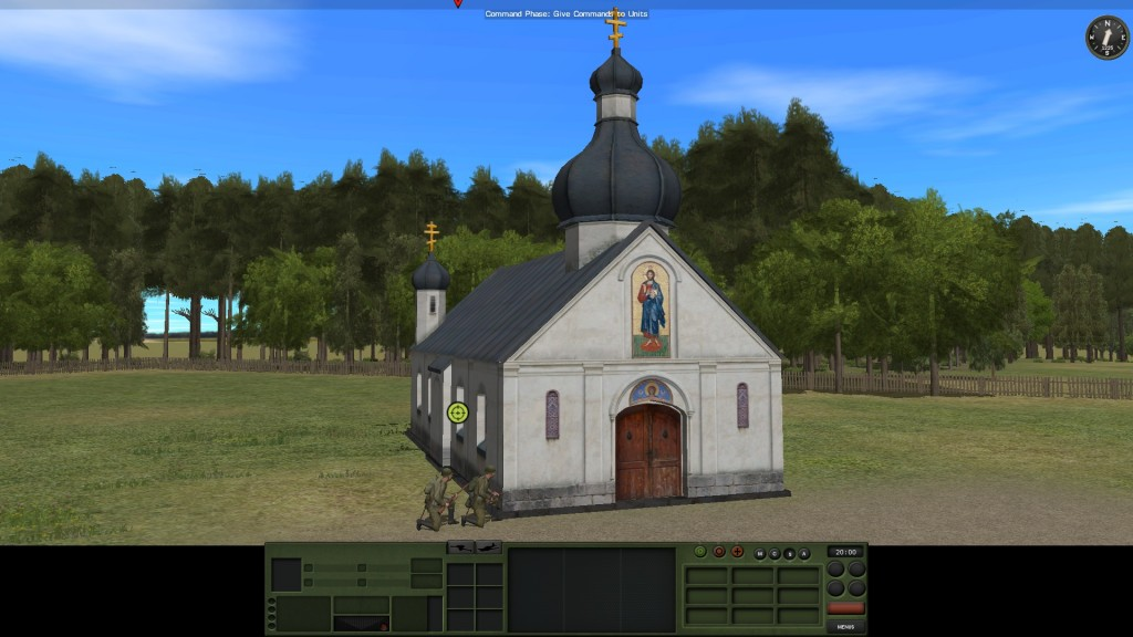 The terrain set is distinctively Eastern Front. The artwork on the church is… quite beautiful. Nice.