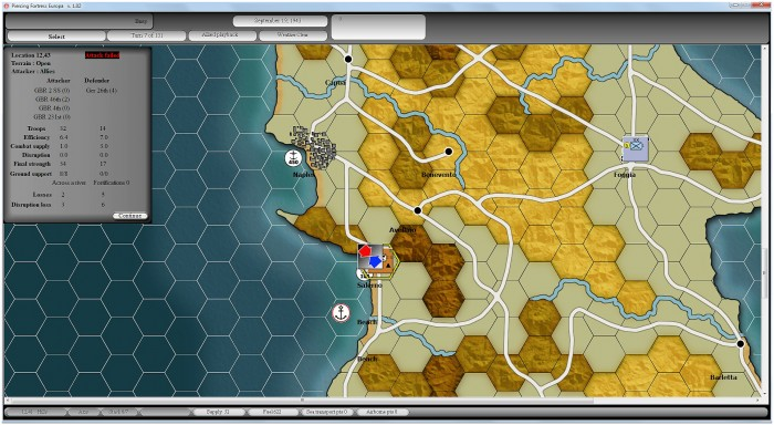 My invading British beach at Salerno is a disaster courtesy of the 26th Panzer Division