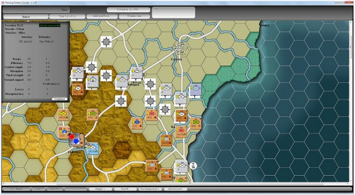 The drive to the Po valley is beset by supply problems, despite which the Kiwi 2nd Division takes Florence