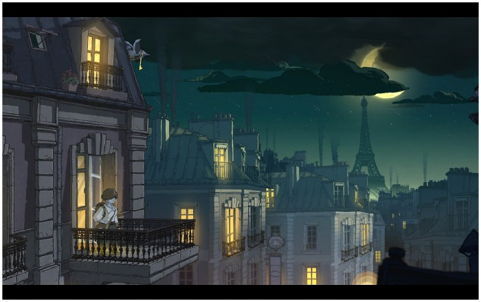 Paris at night, before the Battle of the Marne.