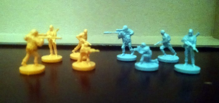There are 4 sculpts, corresponding the character types imported from the Battlefield videogames.