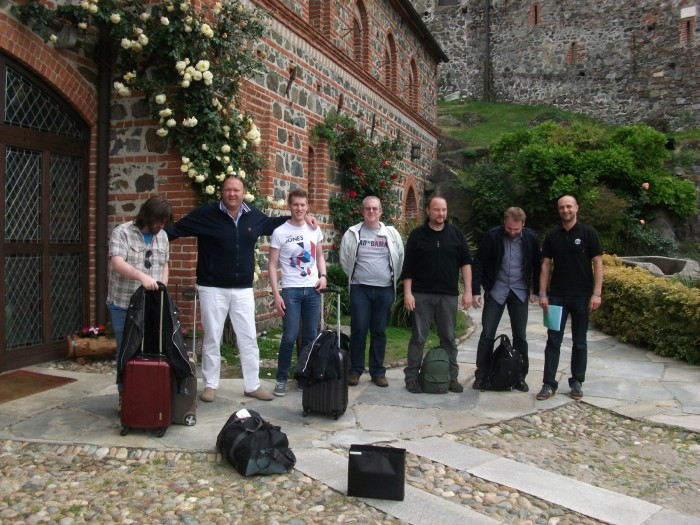 All good things come to an end… some of the group (Tim second left) prepare to leave the Castle of Pavone for home. (Marco Minoli, Slitherine's Marketing Director (far right) did a tremendous job of organising an excellent event, and with his team ensured everything ran smoothly.)