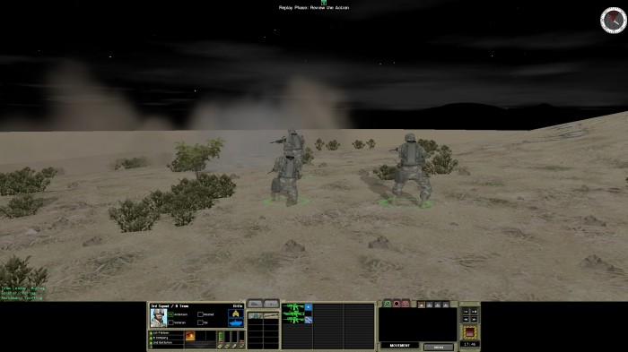 Night action – having cleared the way with grenades, my guys go in to mop up what's left