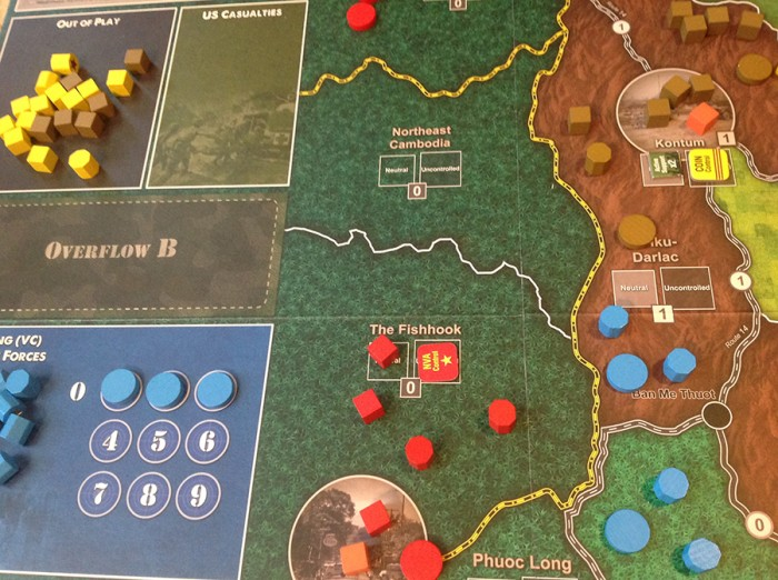 Cambodia and Laos are havens for the Insurgents. The US and ARVN cannot easily engage the enemy there.