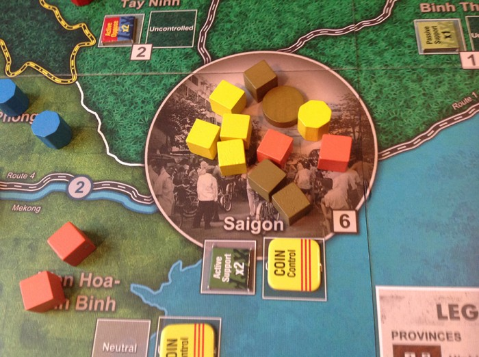 Saigon is a haven for COIN forces, but there are Events that can change that (not to mention good play by the insurgents).