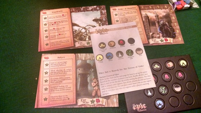 A Kickstarter bonus expansion includes 3 new races, and a bunch of quest items.