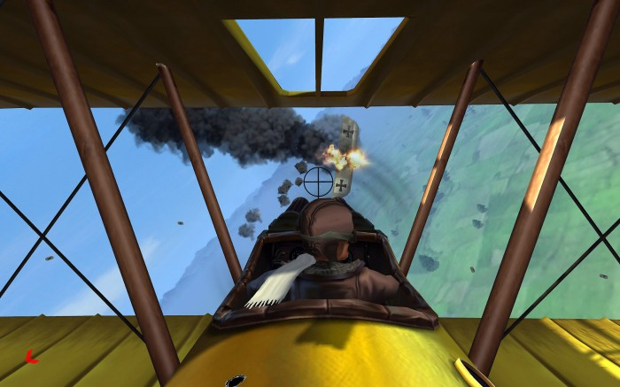 Air combat is arcadey but fun and looks OK.
