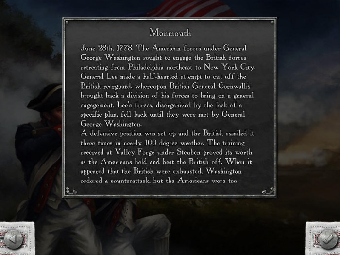 A description for one of the battles, to give a bit of historical flavor.