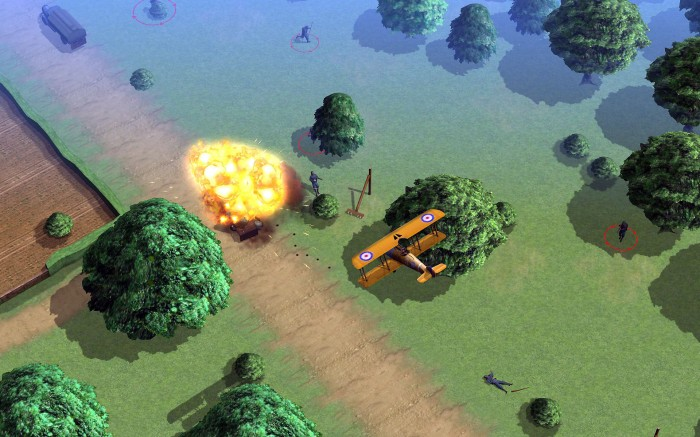 Strafing missions are also cartoony, but challenging and fun.