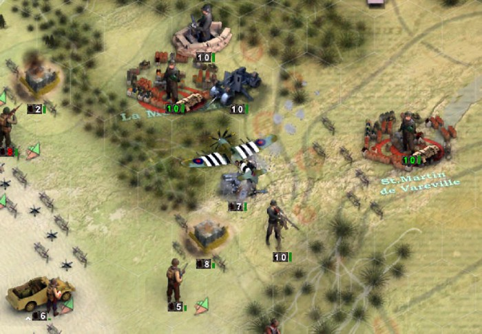 Air strikes are great for taking out artillery.
