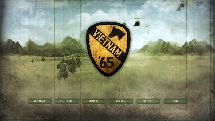 The title screen captures the image of Air Cavalry in Vietnam. I can also hear the sound of helo's and radio chatter in the background.