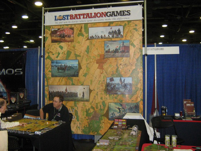 Lost Battalion's booth.