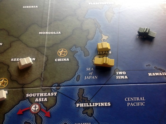 The Japanese are poised to strike at China, but they're facing pressure from the UK (left) and the US (right).
