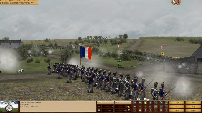 The firefight continues. On the far left you can see another French brigade (under the AI) close on the Dutch flank.