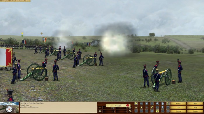 My supporting artillery opens up on the hapless Dutch troops (Nassau).