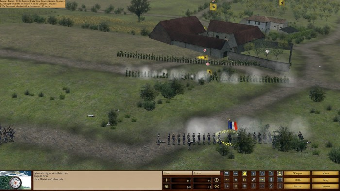 The Dutch are engaged before my objective.