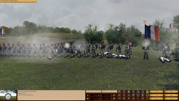 Volley fire soon breaks down to fire at will. Fire at will gives a faster rate of fire, but is less immediately destructive compared to volley fire.