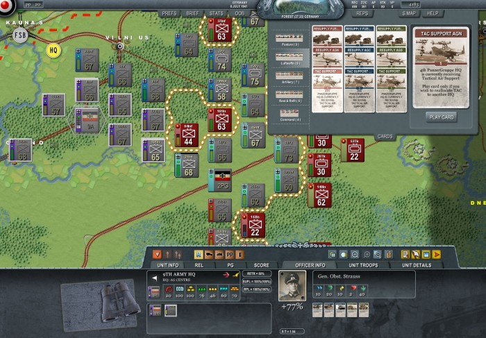 The Luftwaffe northern assets are currently helping the advance of 4th Panzer Group