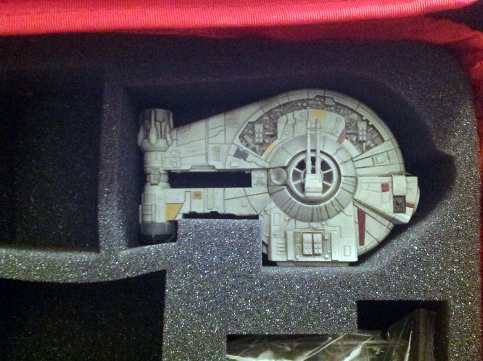 Close up of the YT-2400 in its new home.