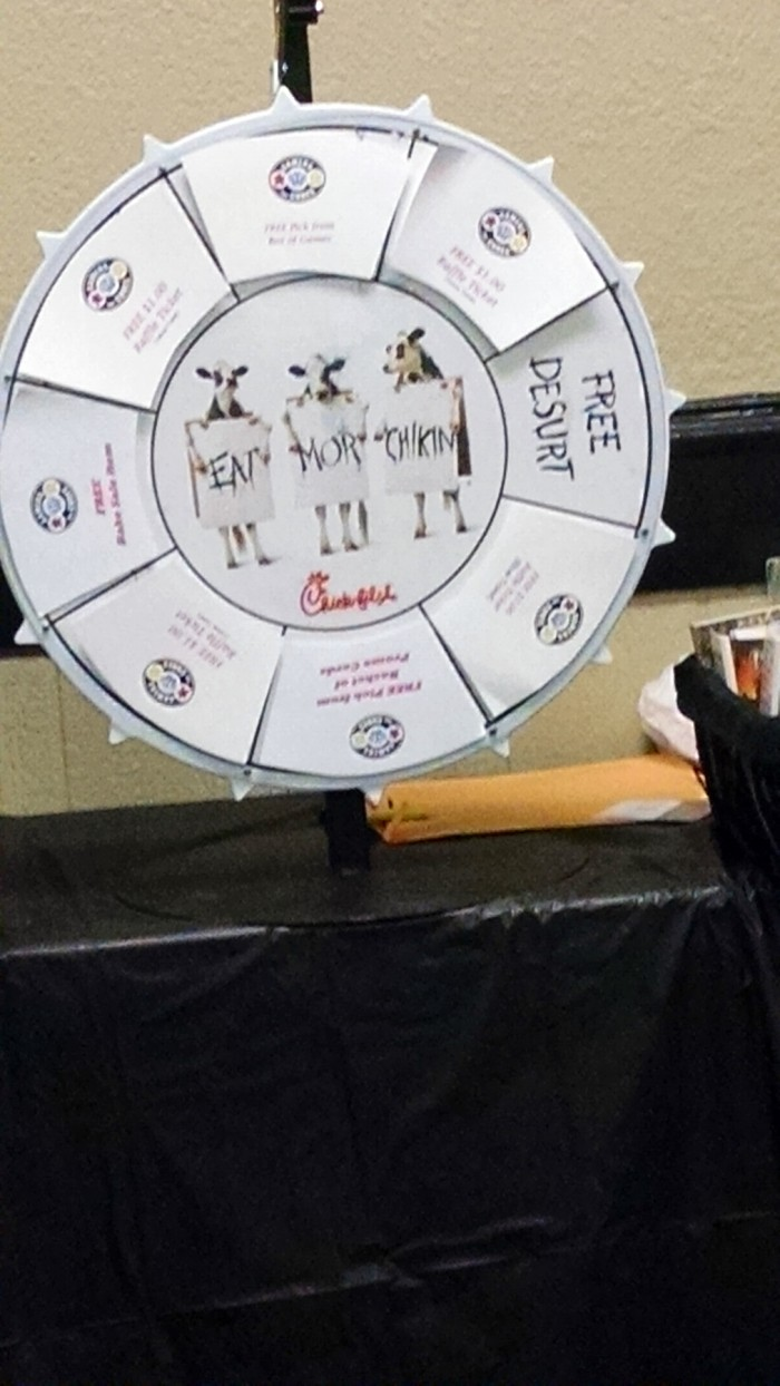 and the wheel of Chik-fil-a