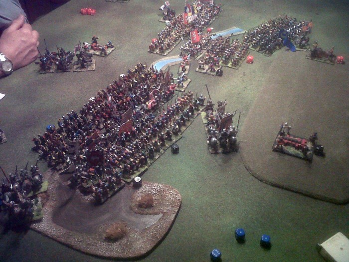 "My regular digital Field of Glory Ancient and Medieval opponent, IMC, sent me this to prove that ""real wargamers"" don't just play Field of Glory on computers! (Image courtesy of IMC). Am I embarrassed? No. ;)"