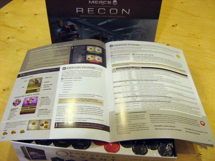 Nice colour glossy rulebook that's 16 pages. Lots of examples.. although apparently not enough...