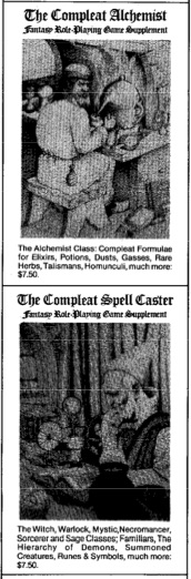 The Compleat series of RPG aids were some of the 'cool' finds you'd get at out-of-the-way hobby stores.
