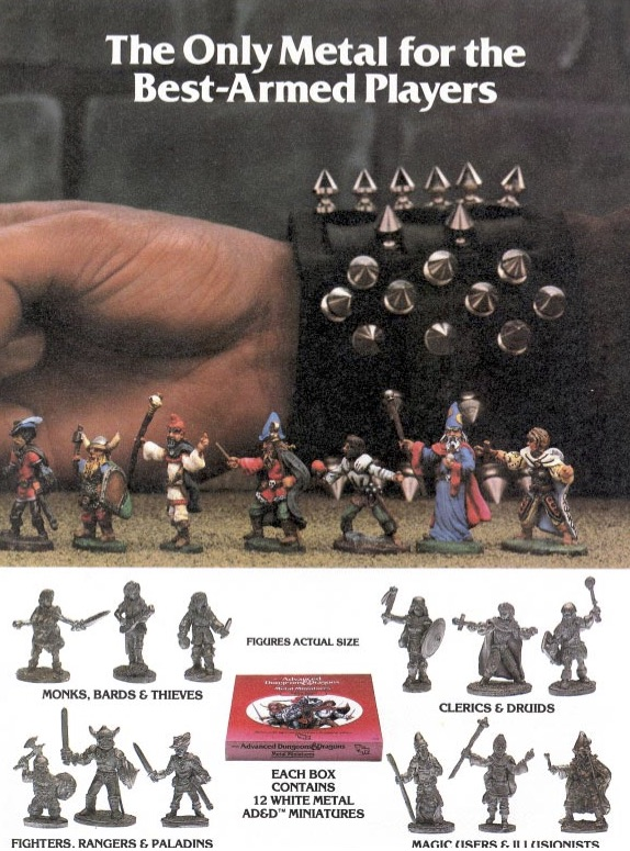 When TSR finally got around to releasing their own minis, they showed up everywhere from ToysR'Us to the military exchanges overseas.