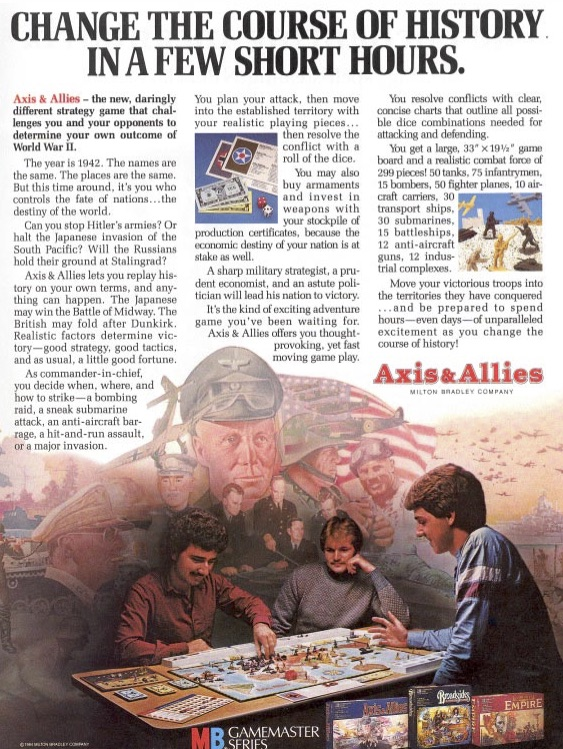 The original big-box Axis & Allies games that started so many of us into the hobby