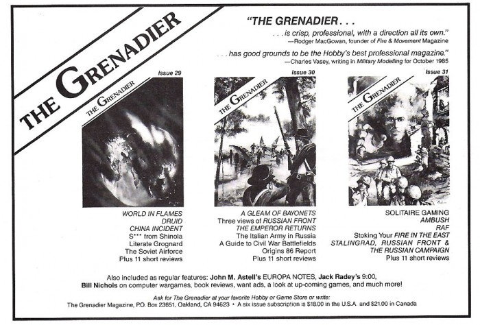The Grenadier!