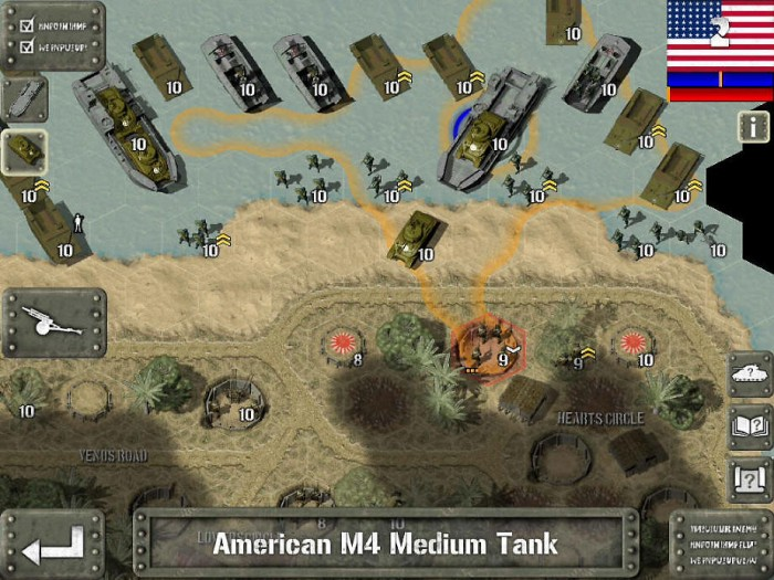 Attacking Saipan. This screenshot is from the app store.