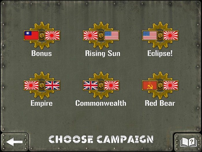 Six Campaigns are included, but the last three (Empire, Commonwealth, and Red Bear) are all in-app purchases.