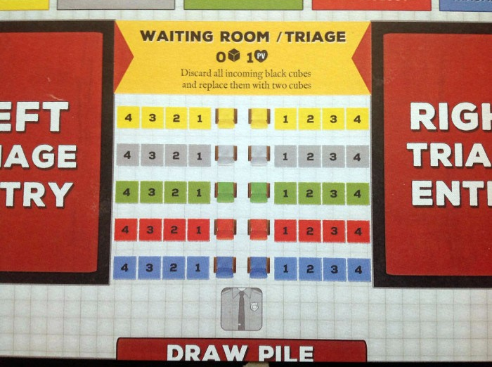 The Waiting Room/Triage, where patients enter.