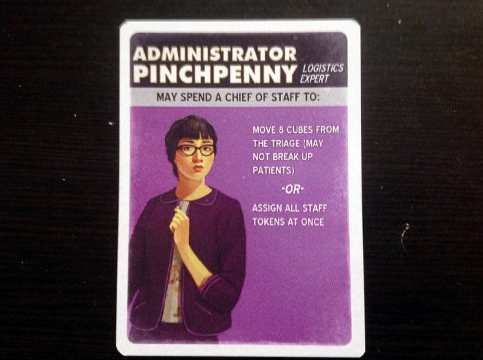 Administrator Pinchpenny. The names make it easier to recall their abilities.
