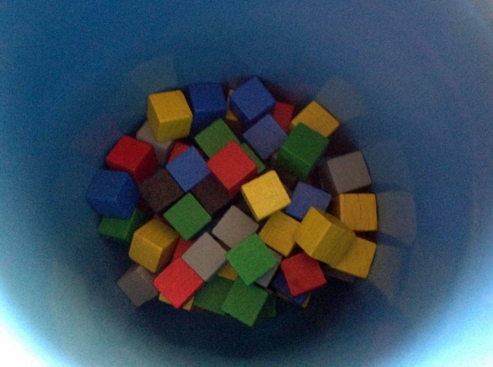 You'll need an opaque cup to put the cubes in.