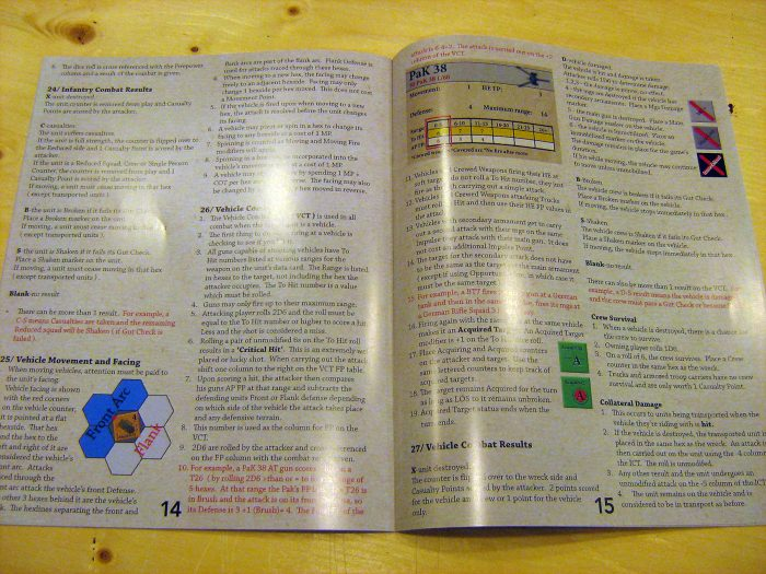 Full colour rulebook. Easy to read too.