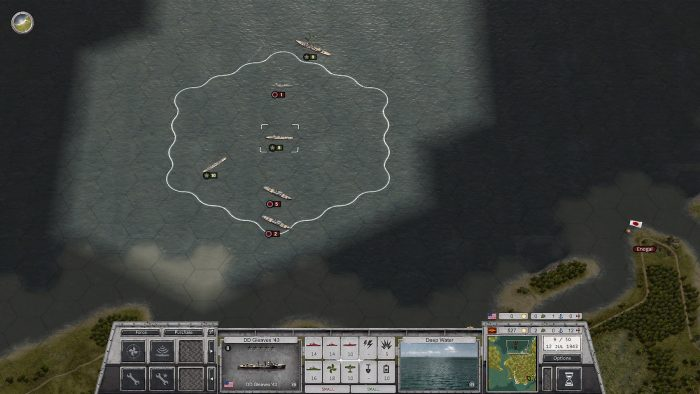 Turn 9 Damaged Jap Ships after several combat turns