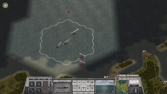 Turn 10 One Jap ship sunk and 2 heavily damaged