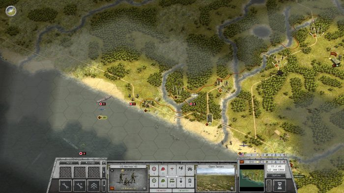 Turn 25 - attacking up the West coast