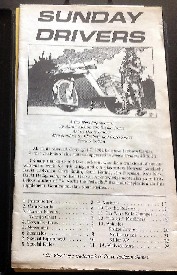 "The rules cover with the old ""Sunday Drivers"" title."