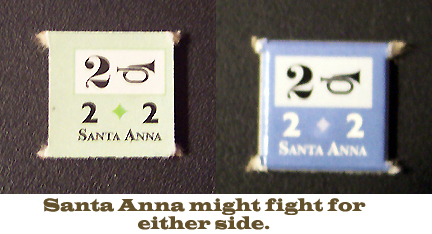 Mexican war hero Santa Anna's appearance is a random event